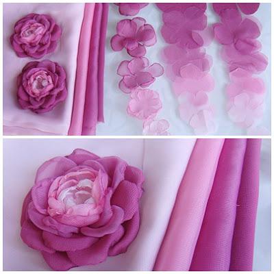 Цвет из ткани своими руками мастер