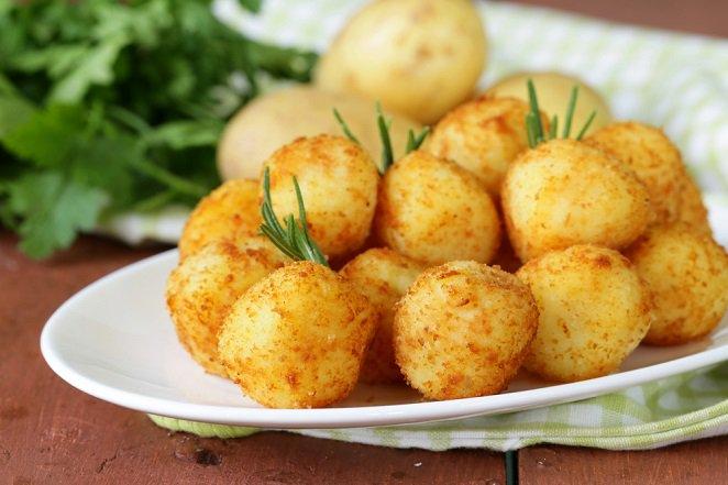 Хрустящие сырные крокеты с плавленым сыром