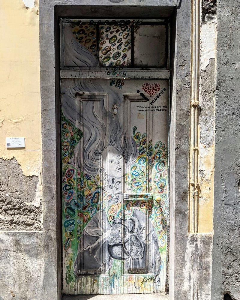 14. дверь, картина, мадейра, португалия, путешествие, фотография, фотомир