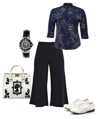 Модные советы для дам элегантного возраста. Как правильно носить тренд сезона -- широкие брюки