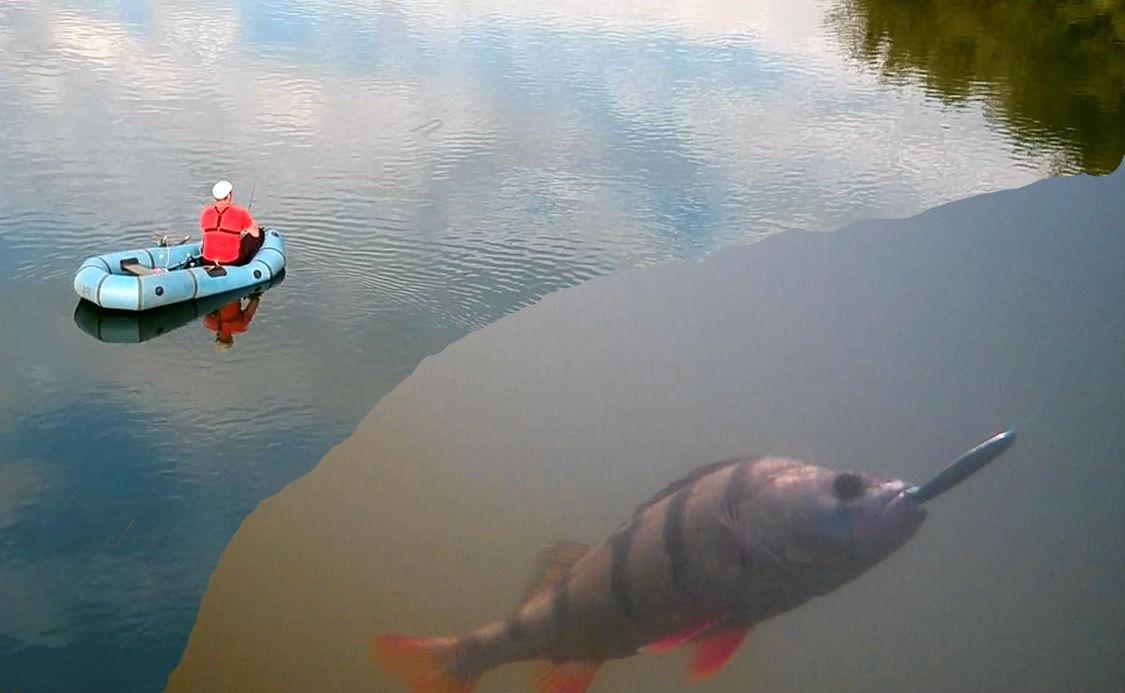 """Уловистая блесна """"КРЫЛАТКА""""!!! Ловля щуки и окуня + подводная съемка"""