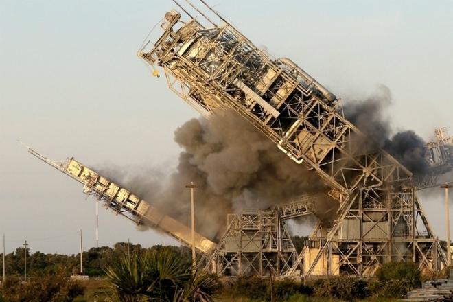 Пусковые площадки мыса Канаверал взорвали и сняли на видео