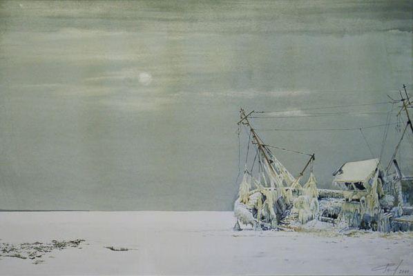 Константин Романов. Пейзаж в акварели. Отсутствие