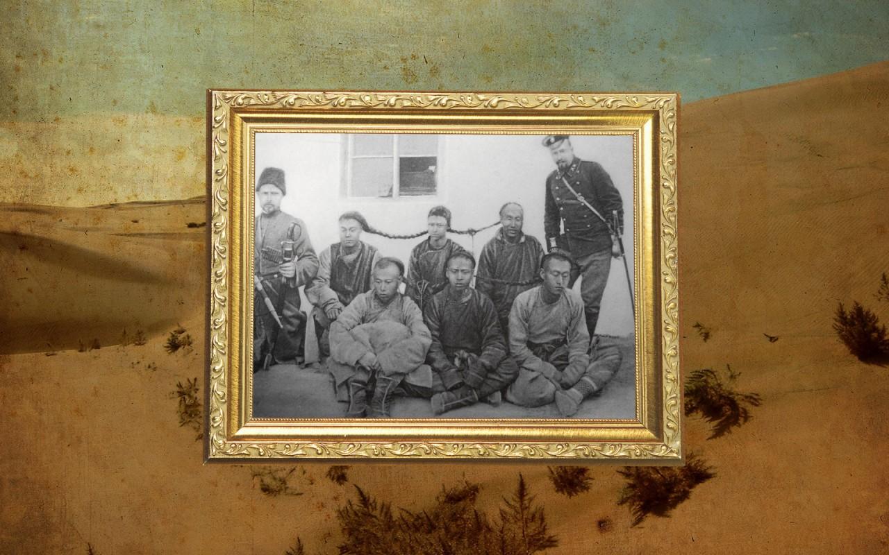 Чины Охранной стражи КВЖД с группой арестованных хунхузов. Маньчжурия, нач. ХХ в. Коллаж © L!FE Фото: © Wikipedia.org, Wikipedia.org