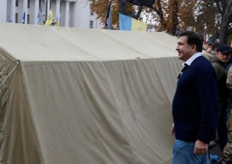Палатка №6: Саакашвили переселился жить на Майдан