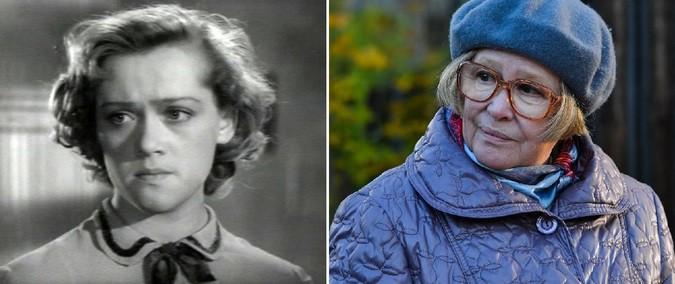 Алиса Фрейндлих. 82 года «Город зажигает огни» (1958) 24 года — «Линия Марты» (2014) 80 лет