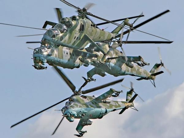 Вертолеты в воздушном бою
