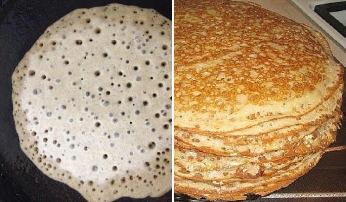 Как правильно сделать тесто, чтобы блинчики получались в дырочку