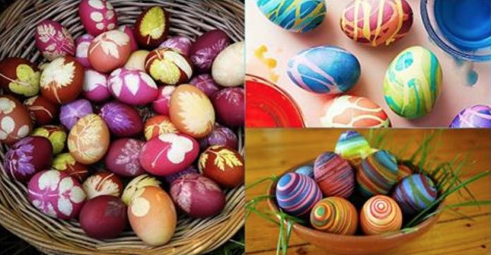 7 бесподобных способов окрасить яйца. Только вода и парочка хитростей!