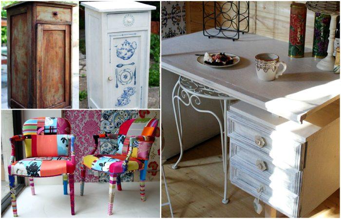 Идеи, как переделать старую мебель в современные и стильные предметы интерьера