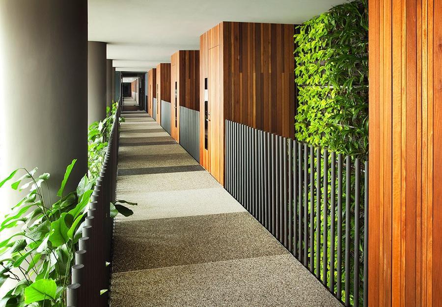 Parkroyal14 Уникальный сад на фасаде отеля в Сингапуре
