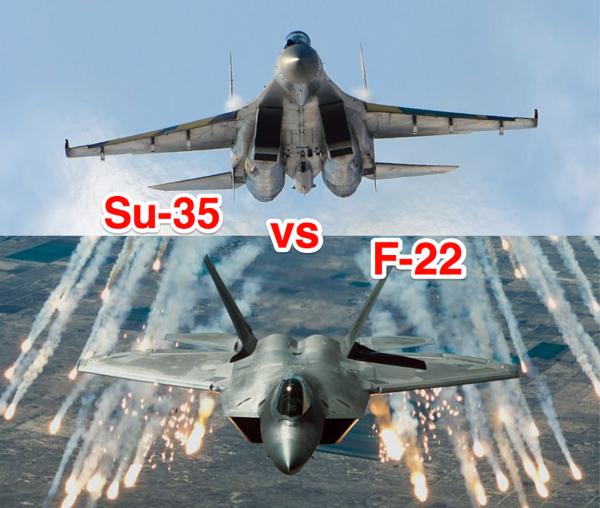 Российские СУ-35 победили F-22 из США в небе над Аляской