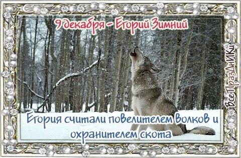 """9 декабря - Народный праздник ,,Егорий Зимний""""."""
