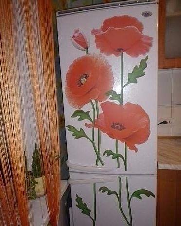 Декупаж для холодильника своими руками фото
