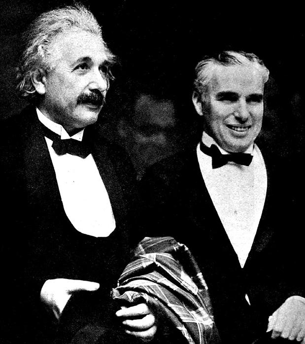 Альберт Эйнштейн и Чарли Чаплин.