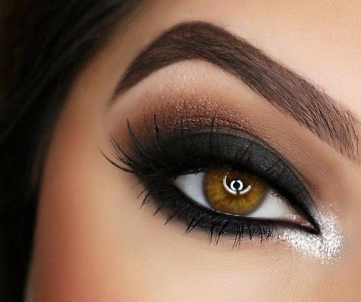 Макияж для раскосых глаз карих глаз