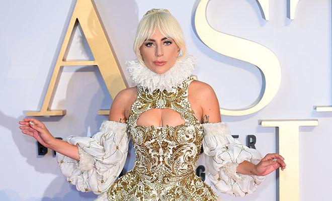 Леди Гага в платье Alexander McQueen произвела фурор в Лондоне