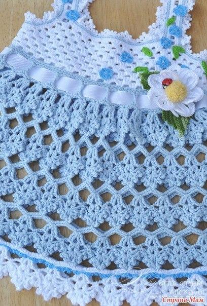 Вязаные платья для девочек крючком! (схемы вязания)