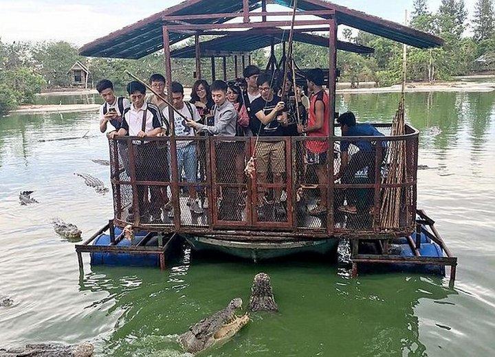Аттракцион для любителей крокодилов
