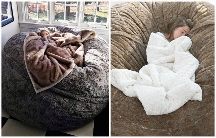 Гигантская подушка-кресло, с которой вообще не захочется вставать