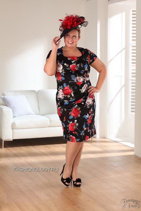 Модные вечерние платья для полных женщин за 50. Фото.