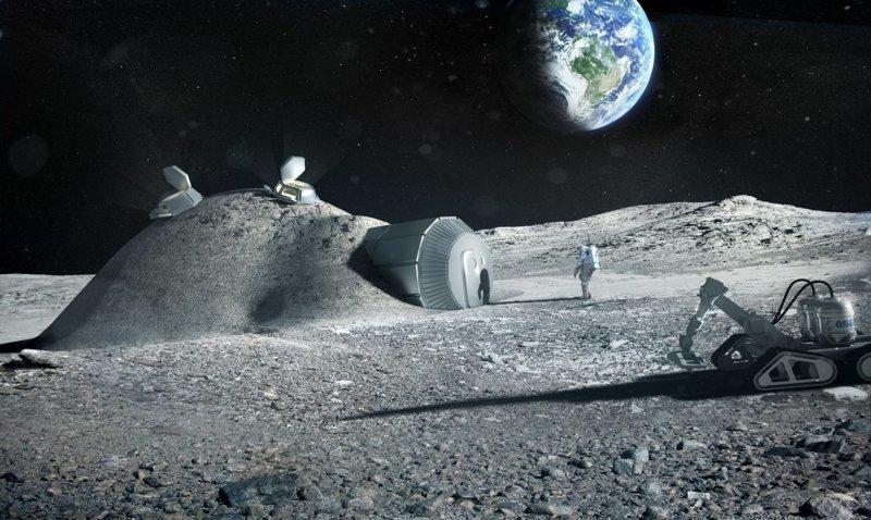 Трубчатые лунные поселения будущее, дом, прогноз