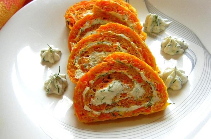 рулет из моркови рецепт