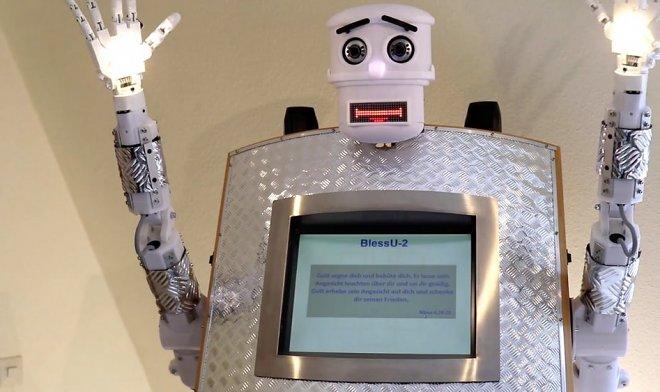 Робот-священник BlessU-2 отпустит грехи на пяти языках