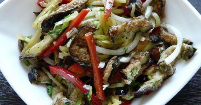Самый лучший салат из баклажанов, который мне доводилось пробовать