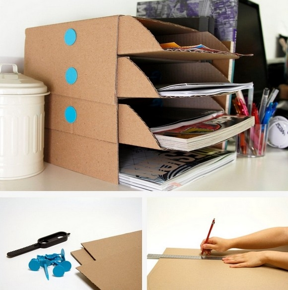 Подставка для тетрадей своими руками из картона
