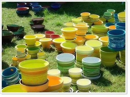 Какой может быть цветочная посуда?