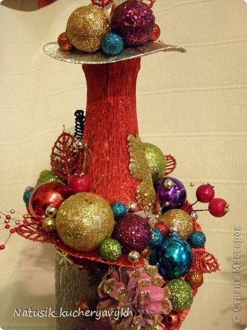 Декор предметов Мастер-класс Новый год Моделирование конструирование новогоднее дефиле + мк Бумага гофрированная фото 12