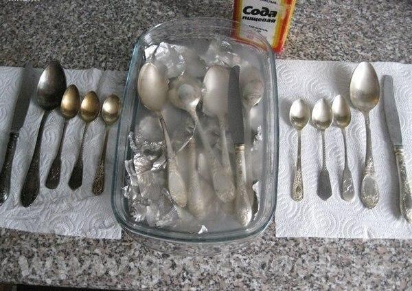 Как очистить до блеска серебро или мельхиор?