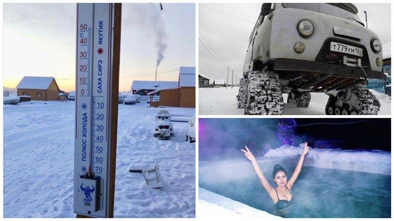 В Якутии температура опустилась до -65 °C, но местные не унывают ynews, заморозки, интересное, фото, холод, якутия
