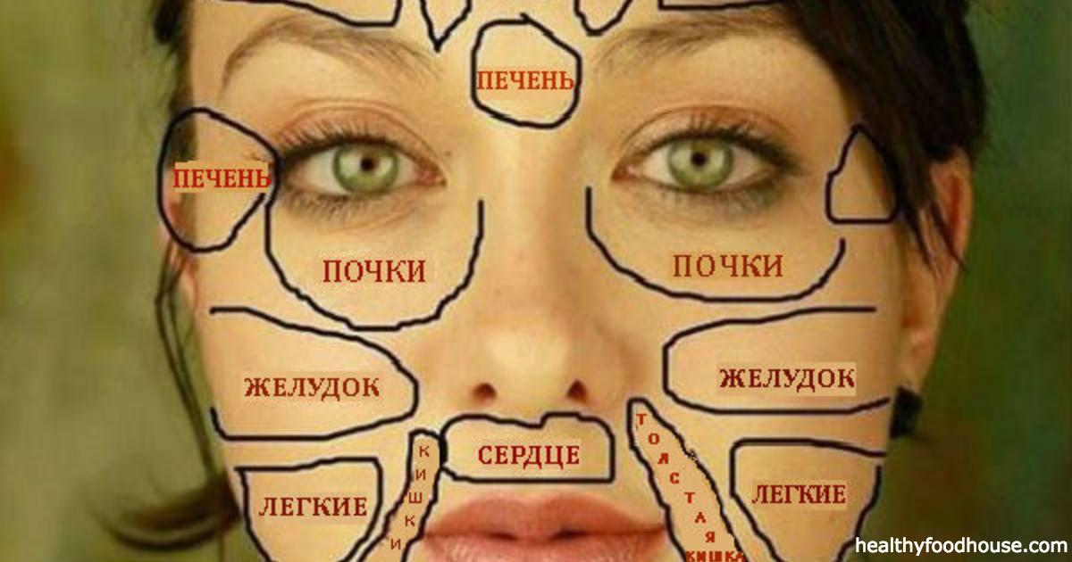 По лицу можно определить болезни - китайский метод