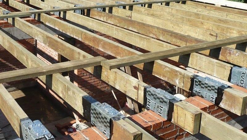 Монтаж деревянного межэтажно…