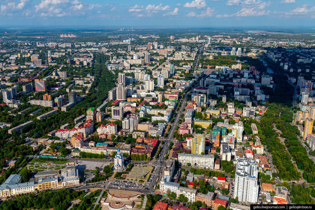 Хабаровск с высоты - город на пятитысячной купюре