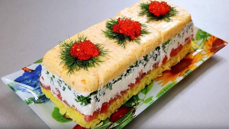 Новый салат «Русский сувенир»
