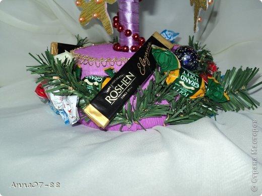 Мастер-класс Новый год Новогодняя карусель Бумага гофрированная Бутылки пластиковые Клей фото 4