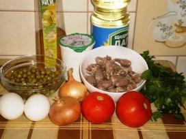 Салат из куриных сердечек - лёгкий и вкусный деликатес