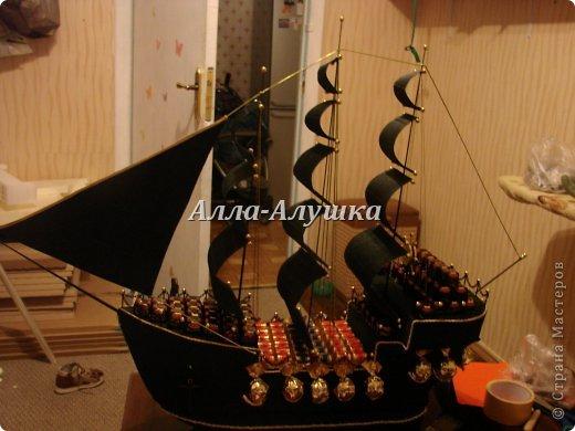 Пиратский корабль из пенопласта