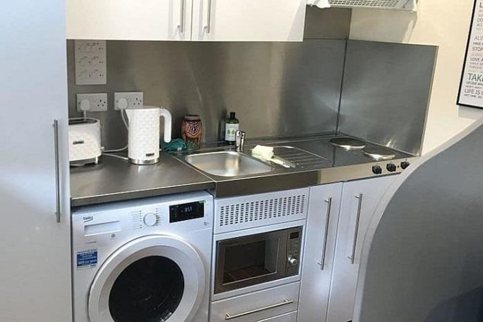 Кухня оборудована по последнему слову техники.