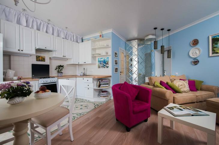 Функциональный интерьер однокомнатной квартиры