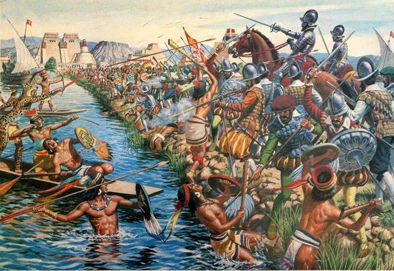 Конкистадоры против ацтеков. Часть 5. Мост