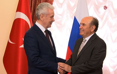 Собянин провел встречу с мэром Стамбула Топбашем