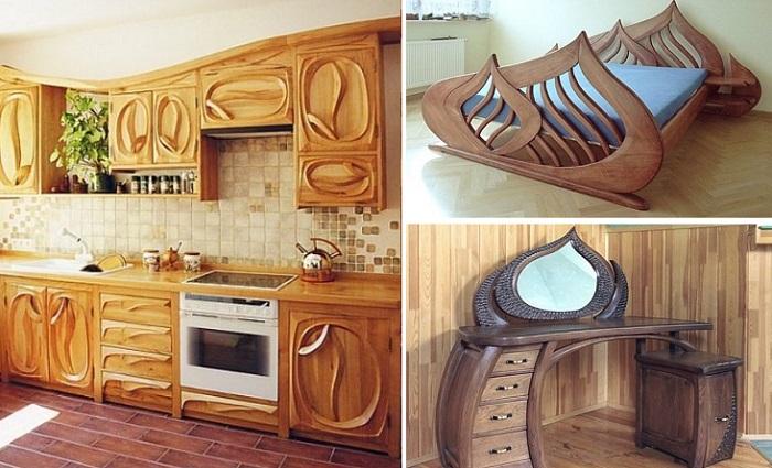 Впечатляющие элементы интерьера из дерева