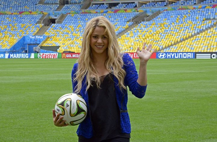 SHAKIRA THANKS FOOTBALL FOR FINDING TRUE LOVE