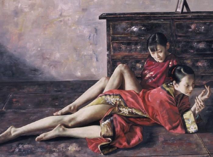 Китайские красавицы и русский академизм LU JIANJUN