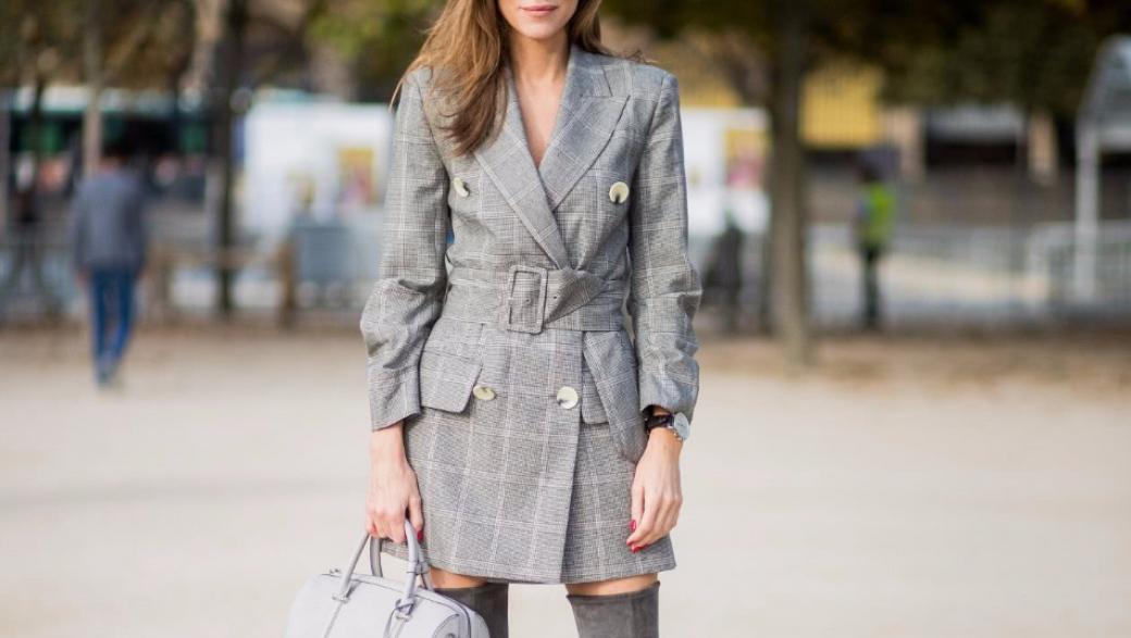 Модные тренды: учимся носить платье-пиджак как знаменитости