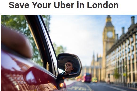 Петицию взащиту компании Uber засутки подписали полмиллиона британцев